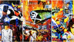 pop art triptyque